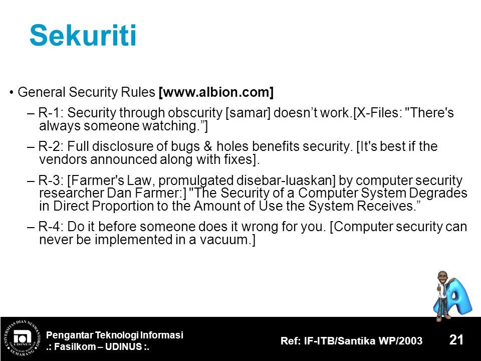 Sekuriti • General Security Rules [www.albion.com]